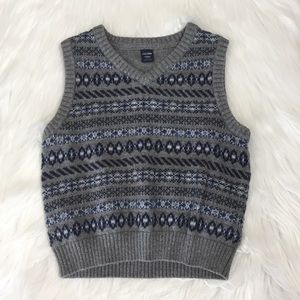 Baby Gap gray and blue knit sweater vest, 2 yrs